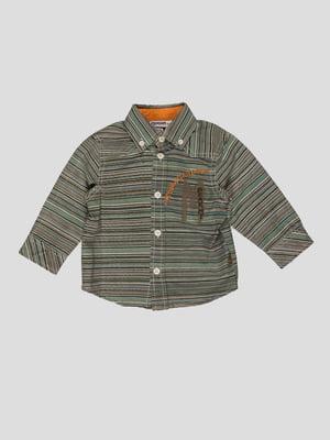 Сорочка в смужку з написами | 35047