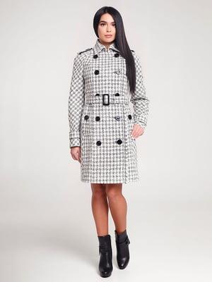 Пальто біле в клітинку | 4421220