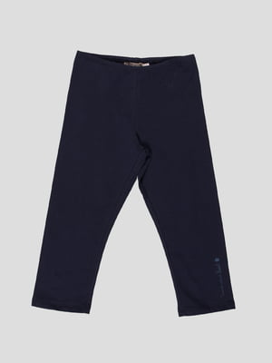 Легінси темно-сині з принтом | 4397573