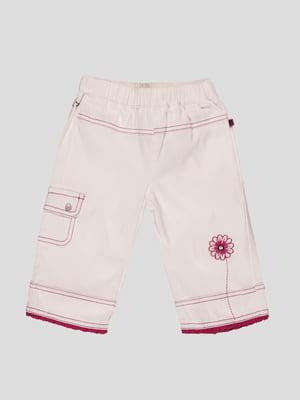 Штани білі з принтом | 92027