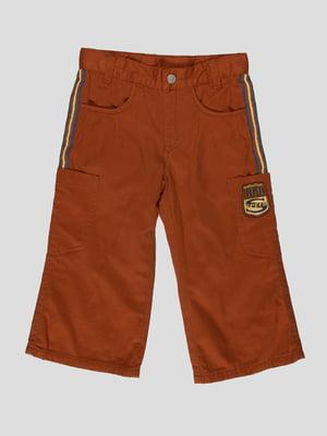 Штани темно-помаранчеві з вишивкою | 4397322