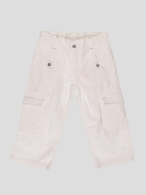 Штани білі з написом | 21229