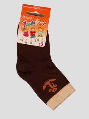 Шкарпетки шоколадного кольору   4100535