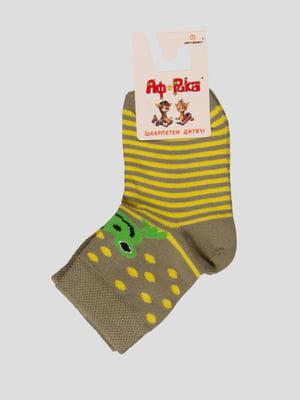 Шкарпетки оливкового кольору   3630587