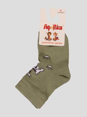 Шкарпетки оливкового кольору   3630878