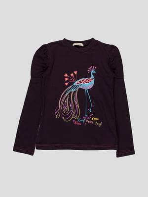 Джемпер фіолетовий з принтом | 1256862