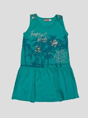 Платье темно-бирюзовое | 4396422
