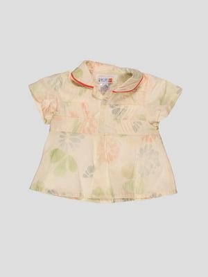 Блуза желтая в принт   4396297