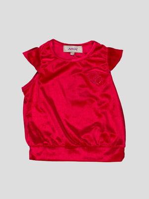 Блуза червона з серцями | 1104601