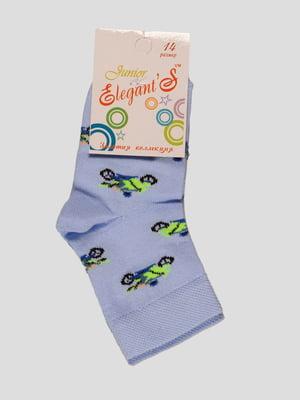 Шкарпетки блакитні в принт   4182083
