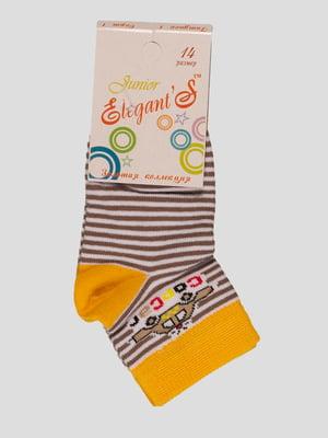 Шкарпетки в смужку з малюнком   3595321