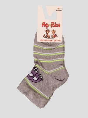 Шкарпетки сірі в смужку   3630577