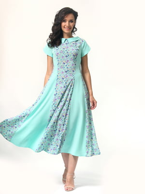 Платье бирюзовое | 4429018