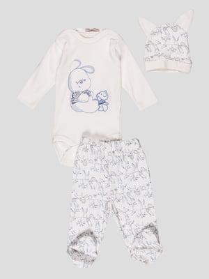 Комплект: боди, ползунки и шапочка | 4413002