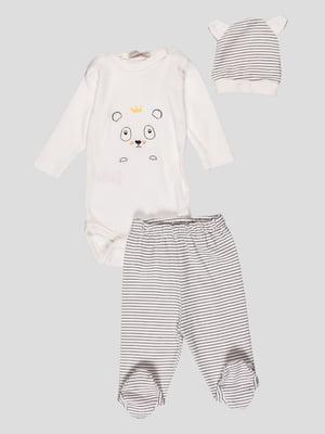 Комплект: боди, ползунки и шапочка | 4413000