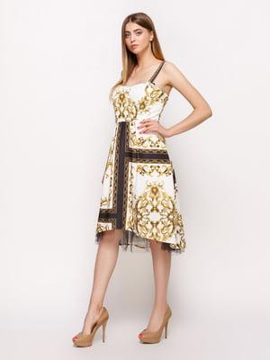 Платье двухцветное | 4190702