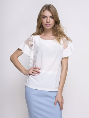 Блуза молочного кольору | 4427519