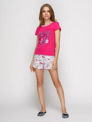 Пижама: футболка и шорты   4421807