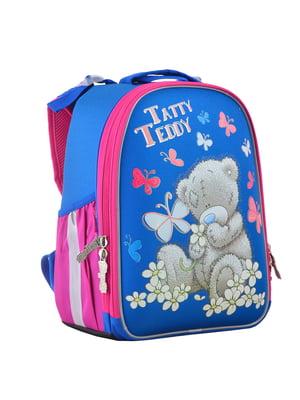 Рюкзак двоколірний з принтом | 4440418