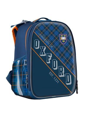 Рюкзак синій з принтом | 4440419