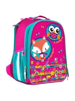 Рюкзак рожевий з принтом | 4440422