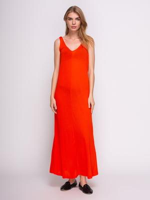 Платье морковного цвета | 2992422