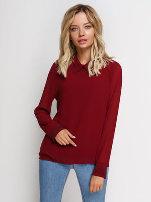 Блуза бордовая | 2710179