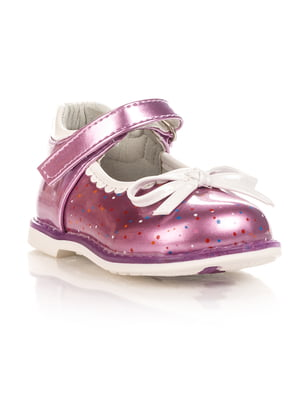 Туфли сиреневые в горошек | 4408176