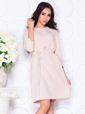 Платье бежевое | 4444571