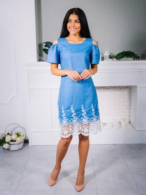 Платье голубое | 4445805