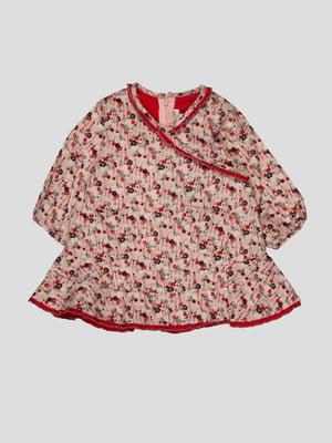 Платье розовое в принт   4396625