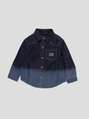 Сорочка темно-синя джинсова | 4396959