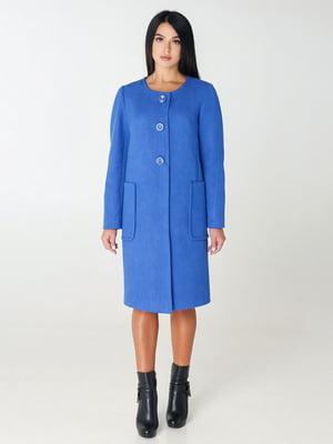 Пальто кольору електрик | 4450204