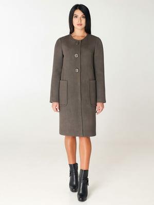 Пальто цвета хаки | 4450205