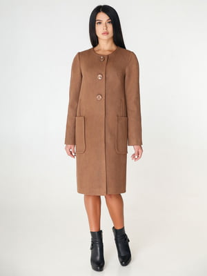 Пальто коричневе | 4450218