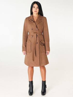 Пальто коричневе | 4450227