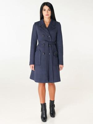 Пальто темно-синє | 4450228