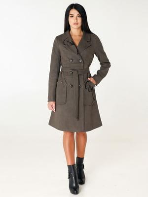 Пальто цвета хаки | 4450229