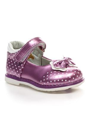 Туфлі бузкові в горошок | 4411476