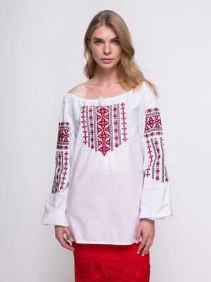 Вышиванка белая - SOPHIE MARIA - 4439543