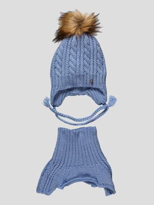 Комплект: шапка і манішка | 4399658