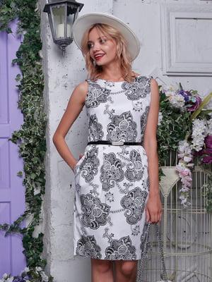 Платье белое с принтом | 4459930