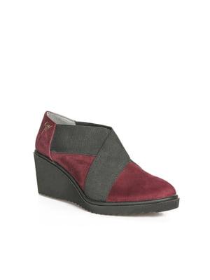 Ботинки бордовые | 4462056