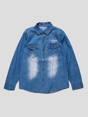 Сорочка синя джинсова | 4457457