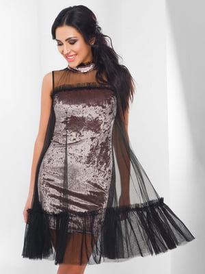 Сукня світло-рожева велюрова - CARICA - 4463589