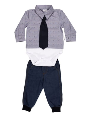 Комплект: рубашка, джинсы и галстук | 4464383