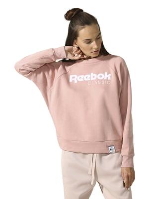 Свитшот розовый с принтом   4441694