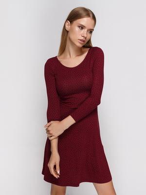 Сукня бордова з принтом | 3967038