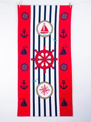 Рушник пляжний велюровий (75х150 см) | 4209613