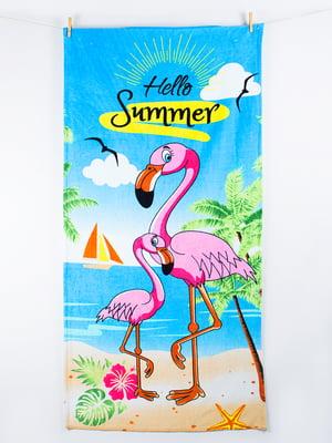 Полотенце пляжное велюровое (75х150 см) | 4209614